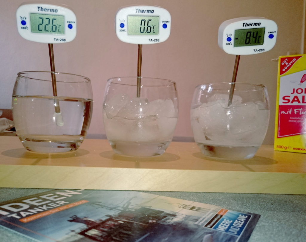 Messung Salzkühlschrank