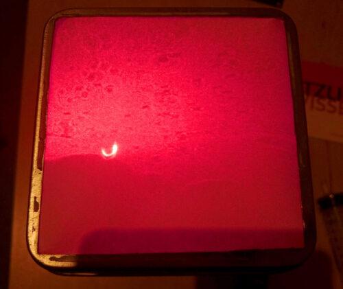 Projektion mit rotem Laser